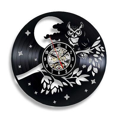 t Gift Birthday Party Wall Nursery Vinyl Record Clock Art (Owl Birthday Party Dekorationen)