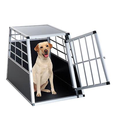 "36"" Aluminum Dog Cage Pet Travel Car Crate Kennel Playpen"