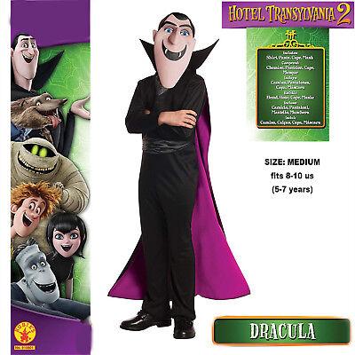 Count Dracula Hotel Transylvania 2 Boys Costume Mask Shirt Cape Pants Halloween