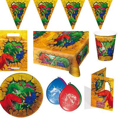 Dino Dinosaurier Geburtstag Kindergeburtstag Deko Party Auswahl T-Rex Dekoration