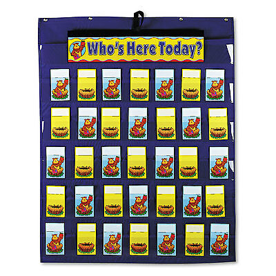 Carson-Dellosa Publishing Attendance/Multiuse Pocket Chart 35 Pockets/Two-Sided