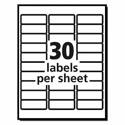 30010 Sheets Blank Address Mailing Labels 1 X 2-58 Fit 51608160