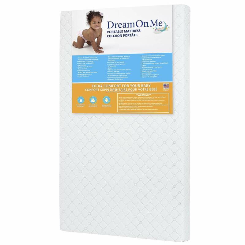 baby toddler 3 portable crib mattress playard