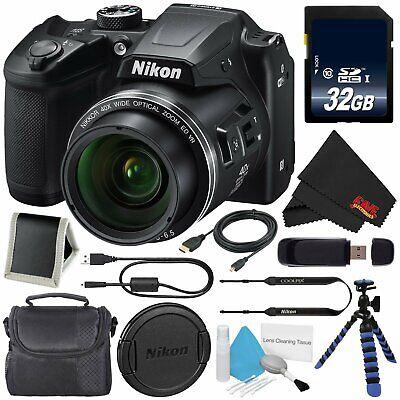 Nikon Coolpix B500 Digital Camera - Black 26506  Deluxe Bundle