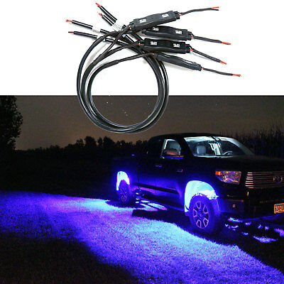 Blue LED 4X4/OFF Road Under Body Rock Lights Ultra Bright for F150 F250 F350