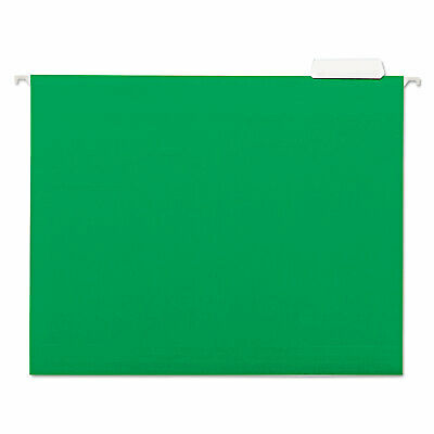Universal Hanging File Folders 15 Tab 11 Point Stock Letter Green 25box 14117
