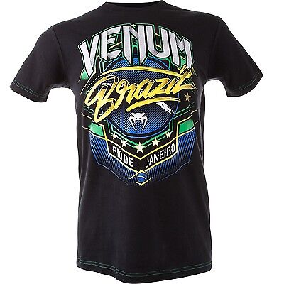 Venum Mens T Shirt Carioca 3 Brazil Fight Team Muay Thai Bjj Mma Ufc S Xxl  35