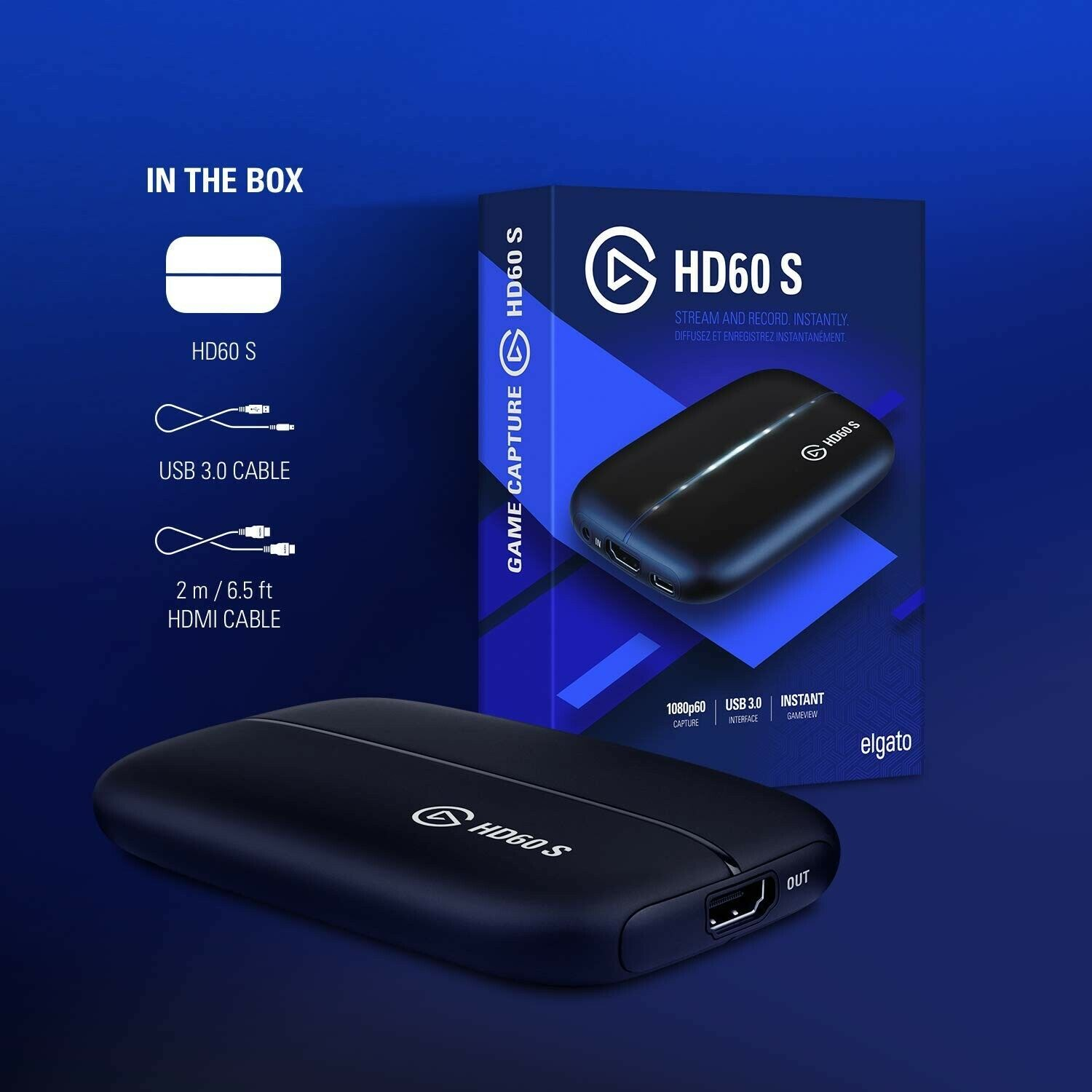 * Brand New *  Elgato Game Capture Card HD60 S - Stream and