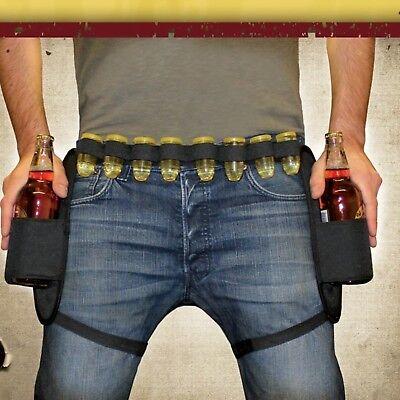 mit 8 Schnapsgläsern aus Kunststoff Bier Holster Cowboy  (Cowboy-gürtel)