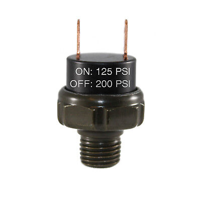 125-200psi Air Pressure Switch Tank Mount Thread 14 Npt 12v24v For Train Horn