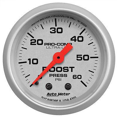 Autometer 4305 Ultra-Lite Boost Pressure Gauge  2-1/16 in., Mechanical