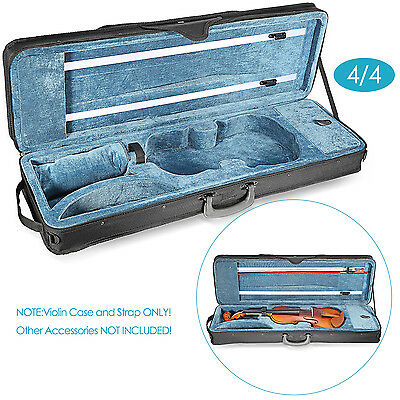 Neewer Black 4/4 Full Size Oblong Shape Violin Carry Hard Case with Cushioning