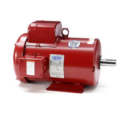 5 Hp 1725 Rpm 184t 230v Leeson Electric Farm Duty Motor Tefc New