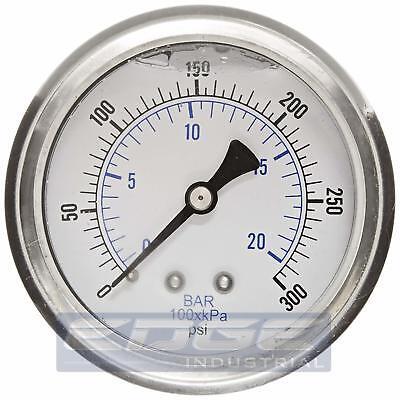 "Pressure GAUGE WOG Compressor Industrial Hydraulic 2.5/"" Face 0-60 Lower Mnt   MI"