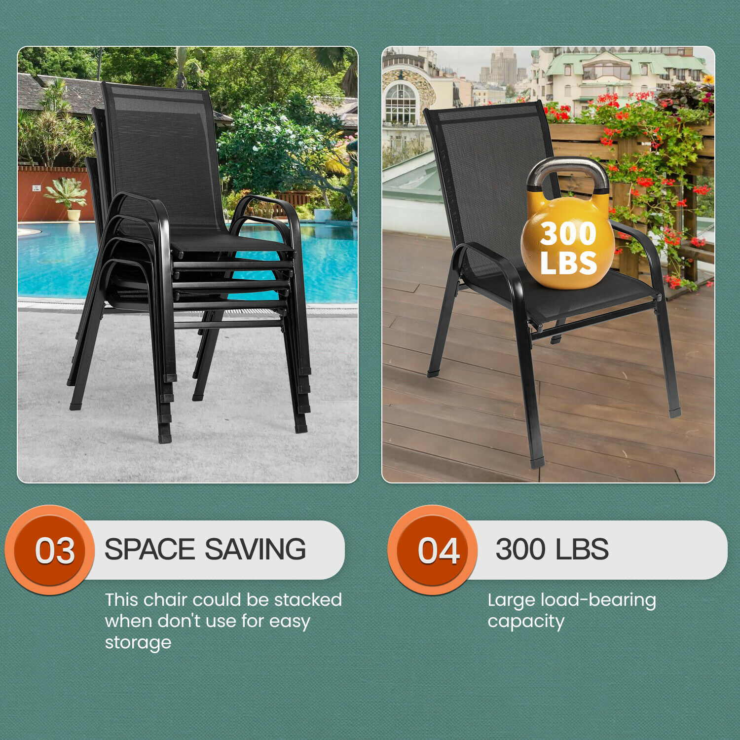 Stackable Patio Chairs Outdoor Chair Patio Chairs Set Of 2 Clearance Home & Garden
