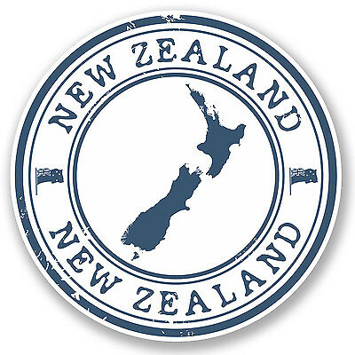 2 x New Zealand Vinyl Sticker Decal Luggage Travel Label Tag Gift Map Flag #4572