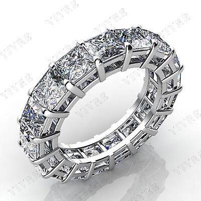 7.00CT PRINCESS CUT DIAMOND FULL ETERNITY RING 14K WHITE GOLD FILLED BAND RING