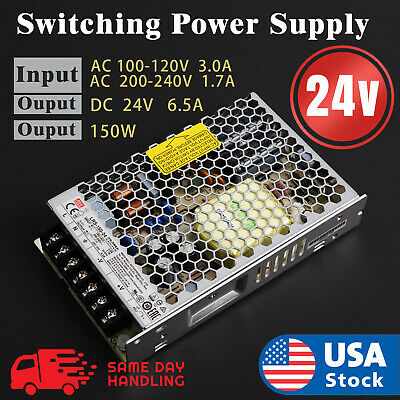 Mean Well Lrs 150w 24v 6.5a Switching Power Supply Input 110v220v