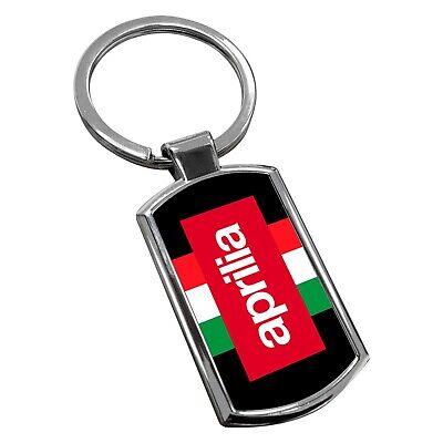 Aprilia Keyring Chrome Metal New Key Chain Ring Fob Comes With Free Gift Box
