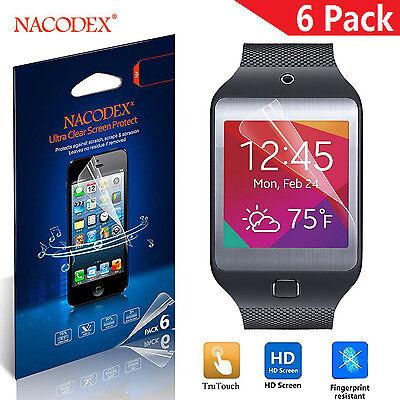6 X Clear Film - 6X Nacodex HD LCD Clear Screen Protector Shield Film For Samsung Gear 2 Neo R381