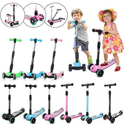 LED Scooter Roller Kinderroller Tretroller Cityroller Kickroller für Kinder DE