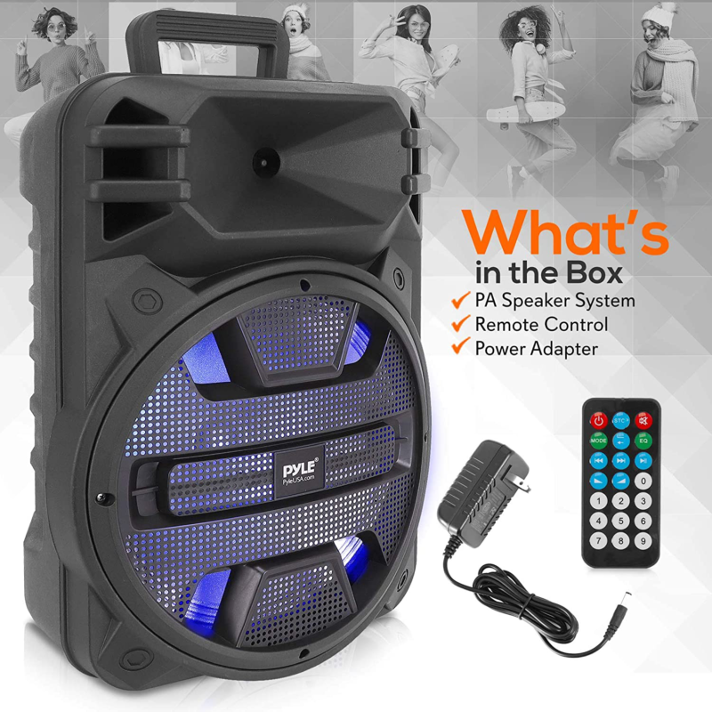 Pyle Portable PA Speaker System Outdoor Bluetooth