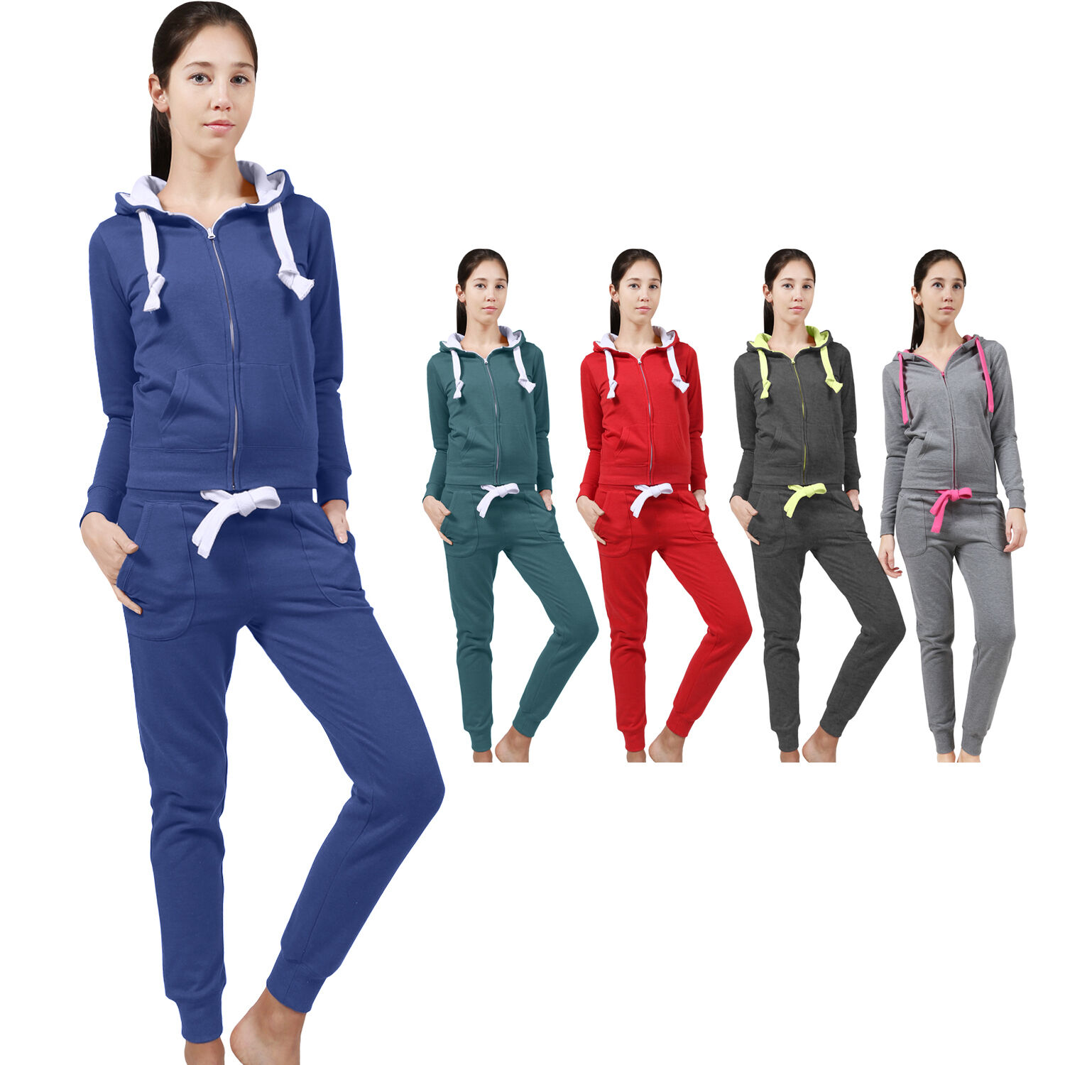 NE PEOPLE Women Light Weight Zip Up Jacket and Sweatpants Tr