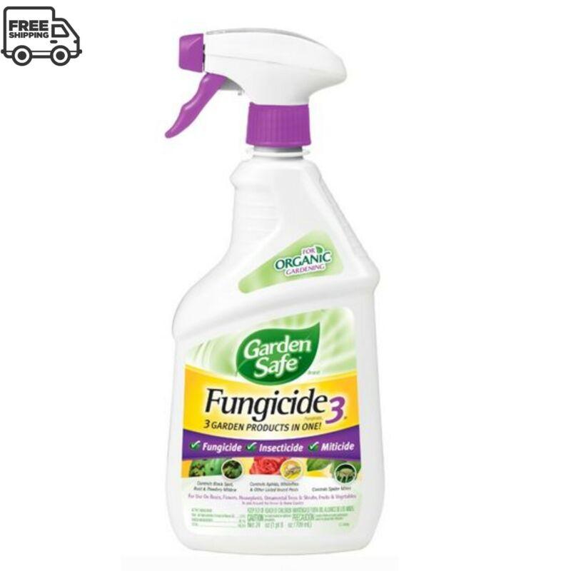 NEW! Garden Safe Fungicide3 Neem Oil Spray For Plants Ant Killer 3 in 1, 24 oz.