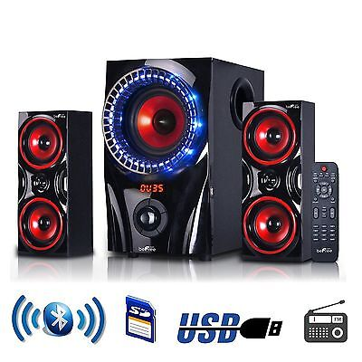 (beFree Sound 2.1 Channel Surround Sound Bluetooth USB/SD Speaker System w/Remote)