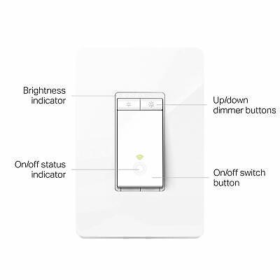TP-Link Kasa Smart Wi-Fi Light Switch, Dimmer works Alexa & Google Home (HS220)