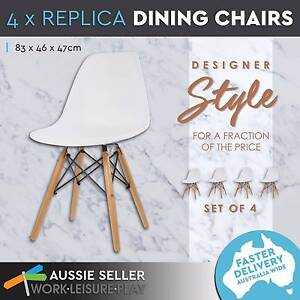 Retro Replica Eames Eiffel Dinning Chairs White 6 Sets & 4 Sets Perth Perth City Area Preview