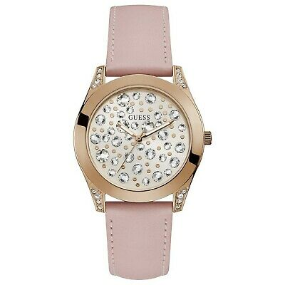 Guess Women's Wonderlust Stainless Steel & Pink Leather Quartz Watch W1065L1