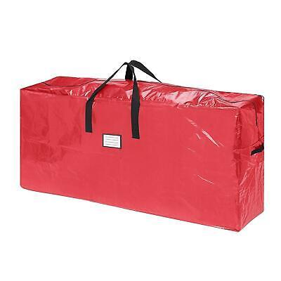 Christmas Tree Box - 9' Artificial Fake Christmas Xmas Tree Storage Bag Heavy-Duty Box Container Red