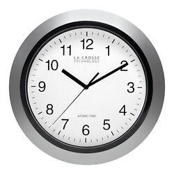 WT-3129S La Crosse Technology 12 Atomic Analog Wall Clock Silver - Refurbished