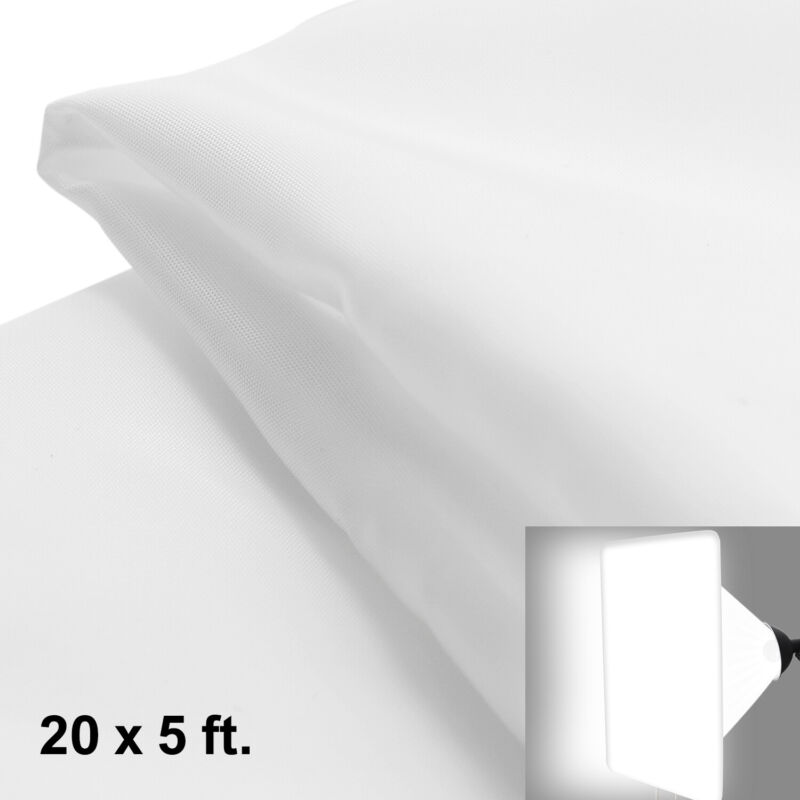 20 x 5 ft. White Diffusion Fabric for Photography Lighting Diffuser Softbox Tent