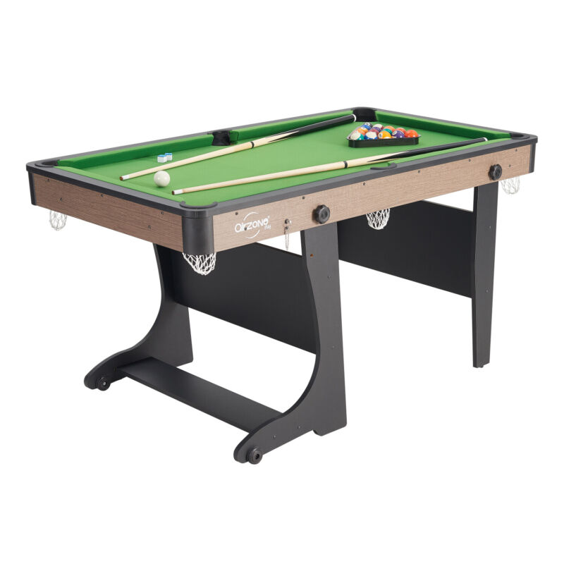 """Folding Pool Table 60"""" Steady Indoor Billiard Game W/ Complete Accessories Set"""