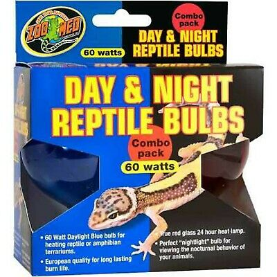 Zoo Med Day Night Reptile Bulbs (60 watts) Combo -