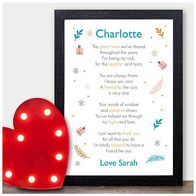 PERSONALISED Birthday Gifts for Best Friends Friendship BFF Presents for