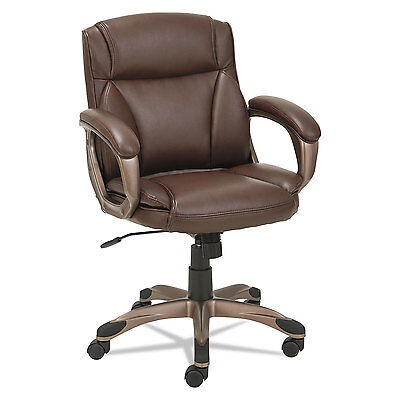 - Alera Veon Series Low-Back Leather Task Chair w/Coil Spring Cushion, Brown