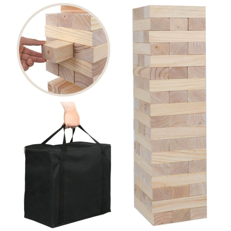 Wood Giant Toppling Tumble Tower Indoor Outdoor Party Game Toy No Print Version