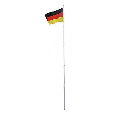 Outsunny Alu Fahnenmast Flaggenmast Staatsflagge Nationalflagge Deutschlandfahne