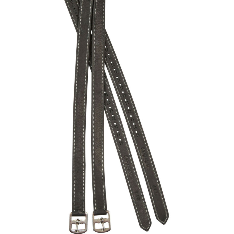 Collegiate Luxe Saddlery Stirrup Leathers - Black All Sizes