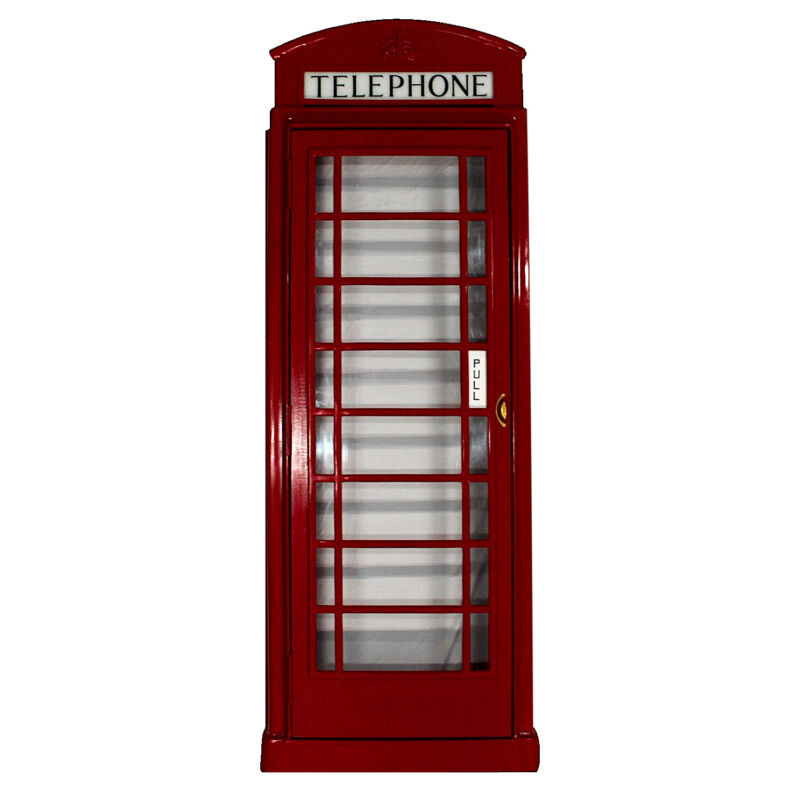 British Red Phone Booth Box Door Front Cast No Rust Aluminum English Old Style
