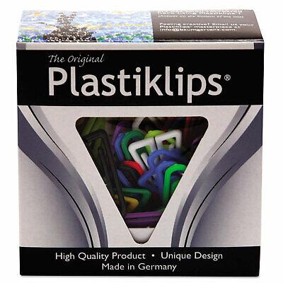 Baumgartens Plastiklips Paper Clips Large Assorted Colors 200box Lp0600