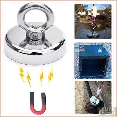 330 Lb Fishing Magnet Super Strong Round Neodymium Lift Retrieving Treasure Hunt
