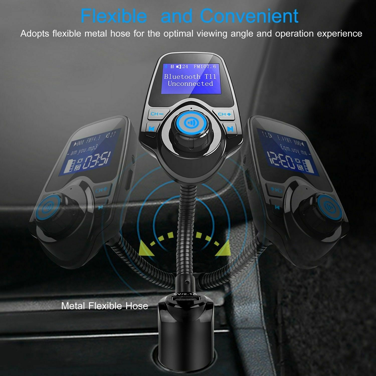 Bluetooth Car FM Transmitter MP3 Player Radio Adapter Kit USB Charger 2 Outlets Consumer Electronics