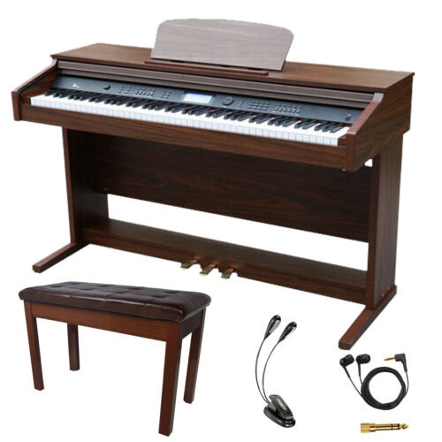 Sawtooth 88-Key Digital Console Piano with Weighted Keys and