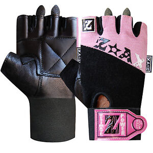Weight Lifting Gloves Leather Body Building Gym Fitness Gloves Ladies & Mens