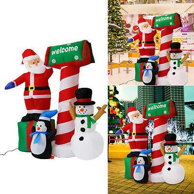 5.3' Inflatable Christmas Santa Clause Snowman LED Air Blown Xmas Party - Inflatable Santa