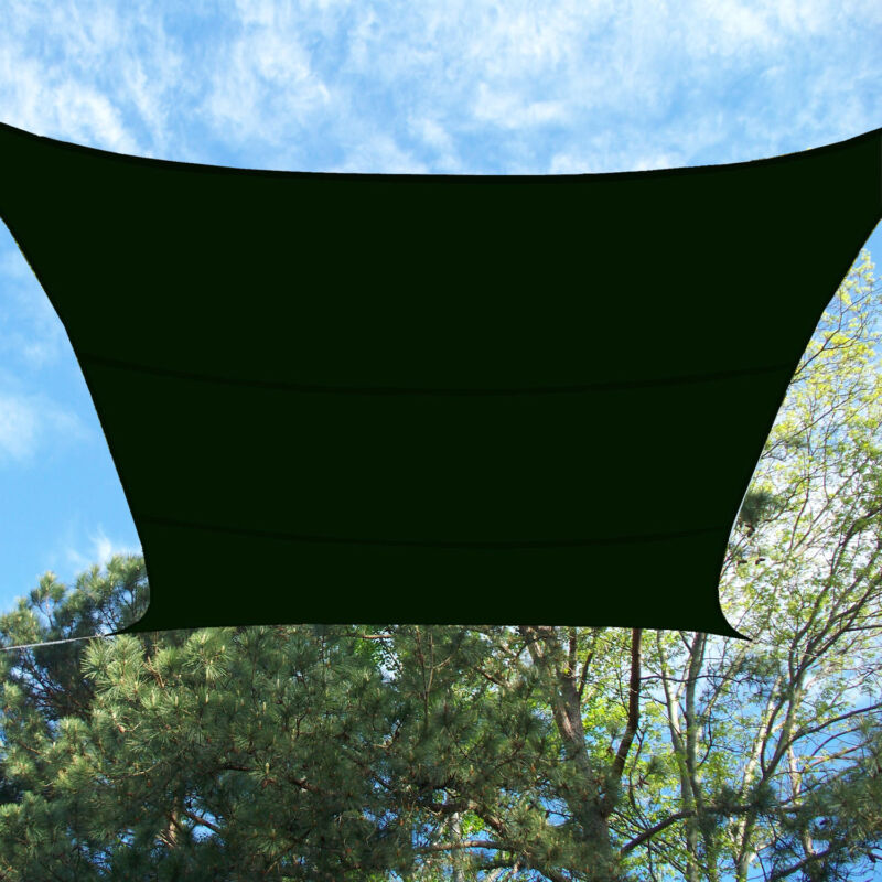 Cool Canopy Sun Sail Shade Shelter Green Waterproof 13' Foot x 16.5' Rectangle